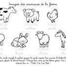 Coloriage à imprimer : Imagier des animaux de la ferme