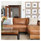 living room designs with leather sectional