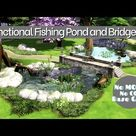 Building a Functional Arched Bridge and Fishing Pond | Base Game | NOCC |The Sims 4