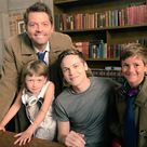 """Misha Collins on Instagram: """"My son and Maison and West came to set!"""""""