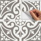 Tile Sticker for Kitchen, bath, floor, wall Waterproof & Removable Peel n Stick: W006Q gray