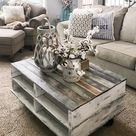 How to Make a Farmhouse Pallet Coffee Table - Repurpose Life