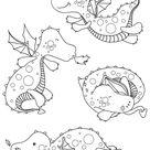 Adorables dragons à imprimer et colorier - Artherapie.ca