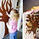Mit Blättern im Herbst basteln - Witzige Ideen für die Kinder