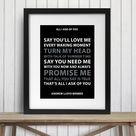 Andrew Lloyd Webber, Phantom of the Opera, Song Lyrics Print, Quote Art Print, Large Music Poster, Inspirational Home decor