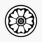 White Lotus Symbol From Avatar the Last Airbender (ATLA) Sticker by strawberrisoduh