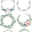 6 belles couronnes de fleurs aquarelle gratuites – idées et instructions aquarelles – # … – Blog