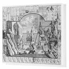 Box Canvas Print. Analysis of Beauty, Plate 1, 1753 engraving