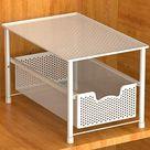 SimpleHouseware Stackable Under Sink Cabinet Sliding Basket Organizer Drawer - White