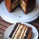 Seven layers of chocolate cake