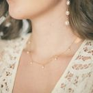 Pearl Droplet Necklace - 14k Gold Filled / 21-22