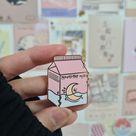milk box enamel pin // aesthetic
