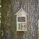 Three Floor Wooden Insect House With Metal Roof