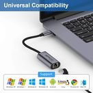 QGeeM USB Type C to Ethernet Gigabit Adapter, Thunderbolt 3 to RJ45 LAN Network Portable Cable Adapter