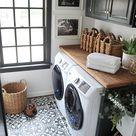 Gorgeous tiny farmhouse laundry room | Laundry room inspiration, Tiny laundry rooms, Laundry room makeover