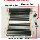 31.58US $ 20% OFF 2 square meters infrared heating film 50 cm*4 m with accessories clamps (clips) and insulating daub and black tap film player film hardnessfilm ribbon - AliExpress
