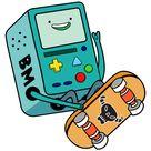 Adventure Time BMO Skating