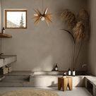 Bathroom Vintage Wood Pendant Hanging Light | Ceiling Chandelier Lighting Brown | Mid Century Lamp