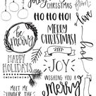 Christmas Photo Overlays + Free Font by Dansie Design on @creativemarket