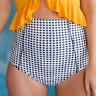 Dressed Up in Gingham Swim Bottoms - 2XL