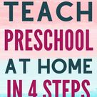 How to Teach Preschool At Home In 4 Simple Steps