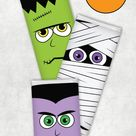 Free Printable Halloween Candy Bar Wrappers | Full Size and Mini Bars