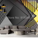 Custom 3D Personality Geometric Pattern (1 ㎡) Wallpaper