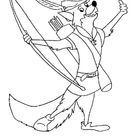 Drawing Robin Hood Coloring Pages