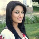 Mehwish Hayat in white dress with red flowers