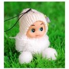 2pcs/lot Mini Small Plush Toy Lovely Exquisite Key&Bag Chain Phone Strap brinquedos Random Color