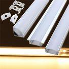 lustreon 50cm aluminium kanal halter für led-streifen licht bar unter kabinett lampe Verkauf - Banggood.com|Kaufen Deutschland
