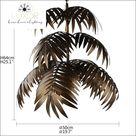 Coconut Palm Delight  Art Deco Pendant
