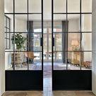 LOFT FRENCH 03 DOUBLE Doppelschiebetür aus Stahl, Glas und Blech