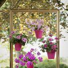 DIY Ideen mit Blumen für die Dekoration von Balkon oder Terrasse