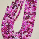 Pink Agate Rounds/Natural Pink Agate Smooth Round Ball Beads/Pink Agate Gemstone Rondelle Beads/Pink