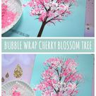 Bubble Wrap Print Cherry Blossom Tree – Kid Craft Idea For Spring
