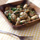 Tapas Rezept: Champignons in Sherrysauce ·