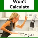 Reasons Why Excel Formulas Won't Calculate + How to Fix with tutorial