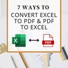[FREE] 7 Quick Ways to Convert Excel to PDF & PDF to Excel