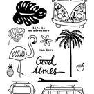 2.59US $ |Flamingos/good times/Transparent Clear  Stamps for DIY Scrapbooking/Card Making/Kids Christmas Fun Decoration Supplies|stamp for diy scrapbooking|transparent clear silicone stampclear silicone stamp - AliExpress