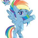 #2402899 - safe, artist:delfinaluther, rainbow dash, pegasus, pony, my little pony: pony life, backwards cutie mark, female, g4.5 to g4, mare - Derpibooru