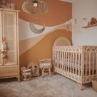 Kids Bedroom Chandelier Lighting Fixture Brown, Parametric Minimal Interior Style Ceiling Light Art