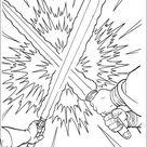 Laser sword duel coloring pages - Hellokids.com