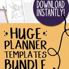 Printable Planner Inserts / Templates for Planners and Journals!