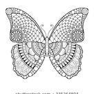 Vlinder. Vintage decoratieve elementen met mandala's. stockvector (rechtenvrij) 335264804