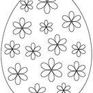 Ausmalbilder Osterei   Ausmalbild Osterei bunte Blüten zum Ausdrucken