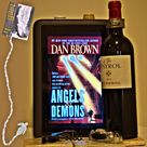 Angels and Demons by Dan Brown, my favourite in the series. Here, visited by Ralph, or is he just looking for the wine?