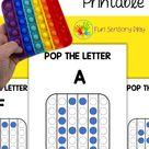Pop It Fidget Alphabet Printable Letter Recognition