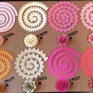 Pre-cut Paper Flowers - set of 10