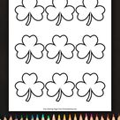 Simple Shamrock Outline 9 Coloring Page • FREE Printable eBook